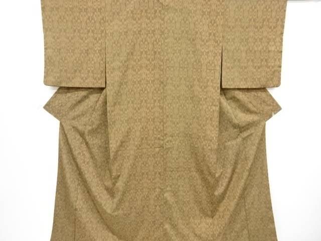 リサイクル 更紗模様織り出しお召し着物【送料無料】[和服/和装/きもの]