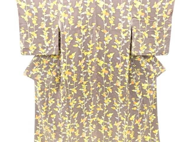 リサイクル 菊模様付け下げ小紋着物【送料無料】[和服/和装/着物/きもの/付下げ/訪問着]
