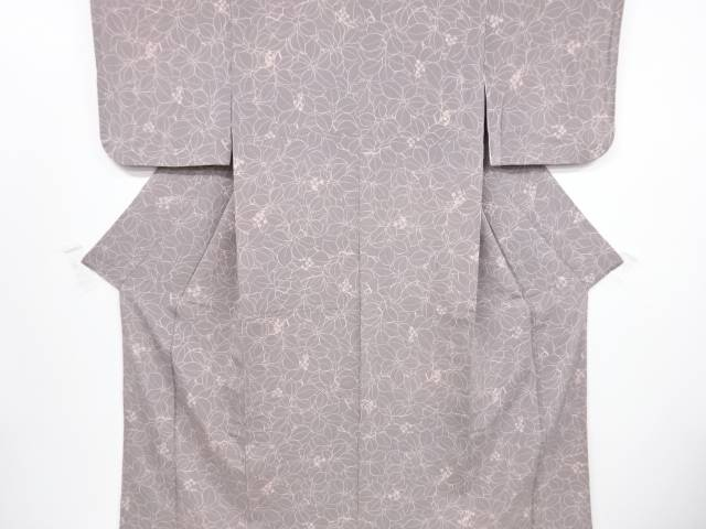 リサイクル 縮緬地草の実模様小紋着物(高島屋)【送料無料】[和服/和装/着物/きもの]