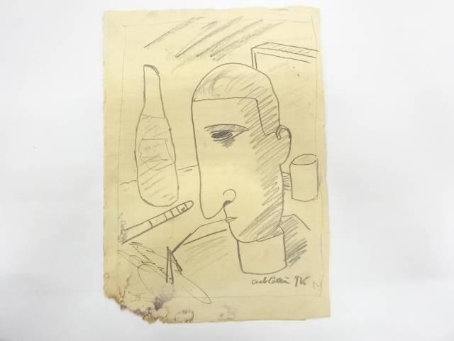【72時間限定タイムセール40%オフ!】【書画】カルロ・カッラ 人物 ドローイング デッサン画【送料無料】