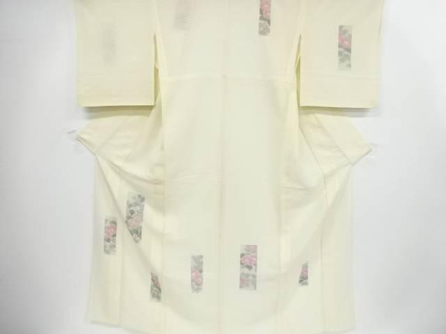 リサイクル 紗すくい織手描き短冊に枝花模様訪問着【送料無料】