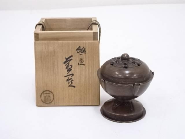 【茶道具】一圭造 唐銅火舎蓋置【送料無料】