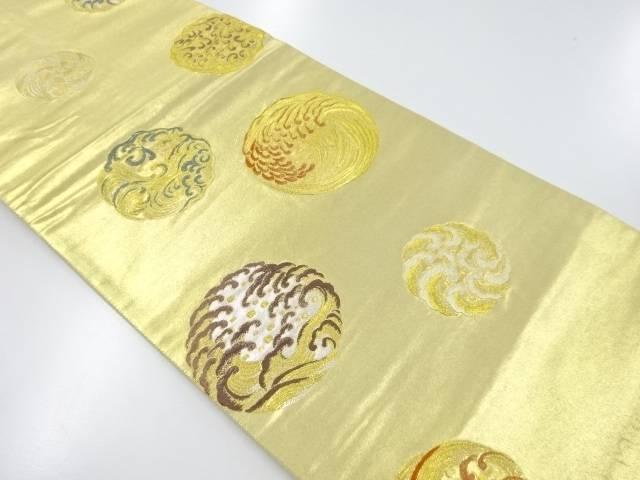 リサイクル 本金箔波丸紋織り出し袋帯【送料無料】