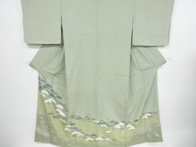 リサイクル 金彩友禅松原風景模様三つ紋色留袖(比翼付き)【送料無料】