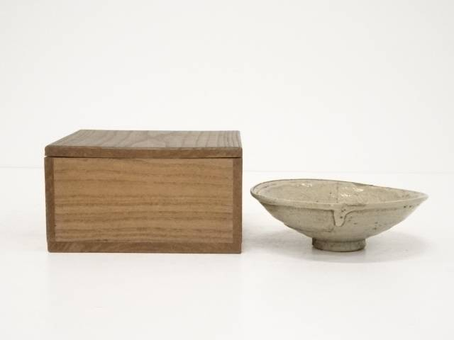 【茶道具】古物 高麗三嶋茶碗 □p【送料無料】