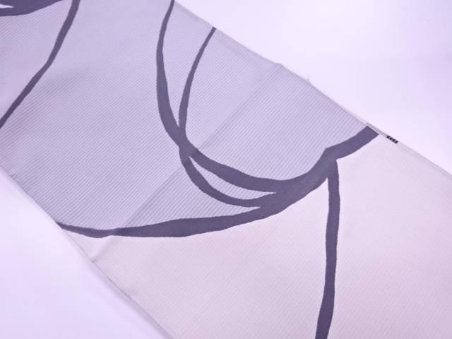 リサイクル 抽象模様織出しリバーシブル全通袋帯【送料無料】