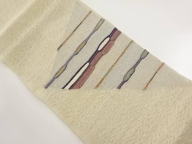 リサイクル 紗紬 横段織り出し袋帯【送料無料】