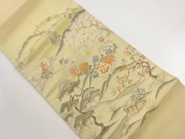 リサイクル 本金 遠山に桜・松模様織り出し袋帯【送料無料】