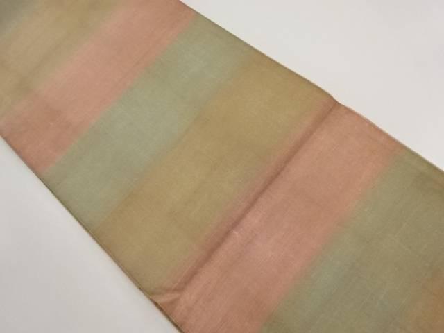 リサイクル 手織り節紬横段模様全通袋帯【送料無料】