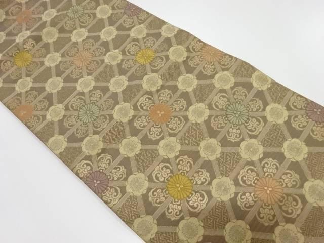 リサイクル 華紋模様織出し袋帯【送料無料】
