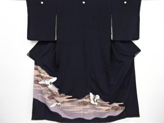 リサイクル 未使用品 金彩雲に鶴模様留袖(比翼付き)【送料無料】