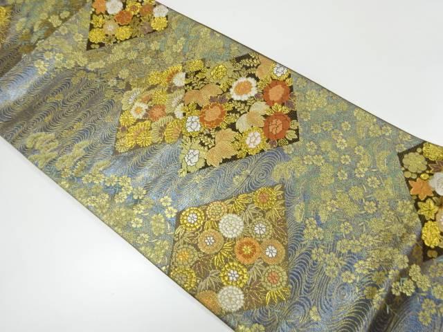 リサイクル 松竹梅に草花模様織出し袋帯【送料無料】