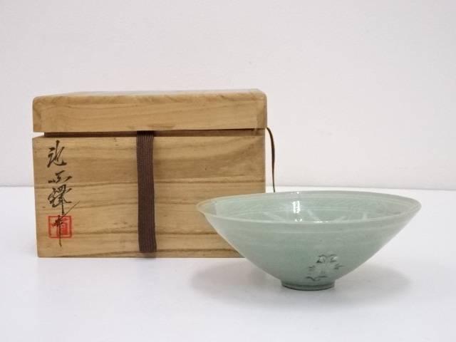 【茶道具】池順鐸造 高麗青磁茶碗【送料無料】