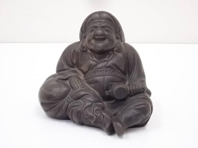 【陶芸・陶器】古物 備前焼 大黒天置物【送料無料】