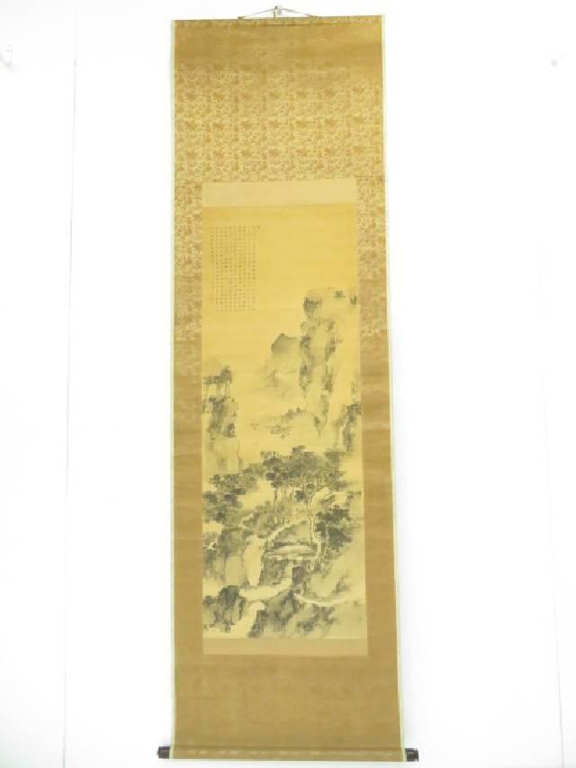 【夏セール35%オフ!】中国画 山水図 肉筆絹本掛軸【送料無料】