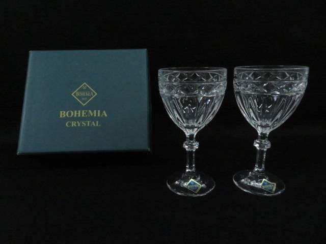 【スーパーSALE40%オフ!】【ガラス】BOHEMIA CRYSTAL ワイングラス(箱付)【送料無料】