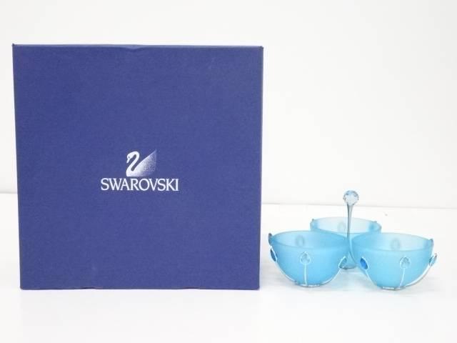 【夏セール50%オフ!】【ガラス】SWAROVSKI スワロフスキー製 アロマキャンドル3種置 箱付【送料無料】