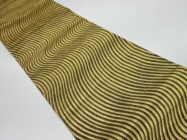 茶道具 着物 送料無料 リサイクル よろけ縞模様織出し全通袋帯 和服 買収 登場大人気アイテム 和装 おしゃれ きもの 帯 かわいい