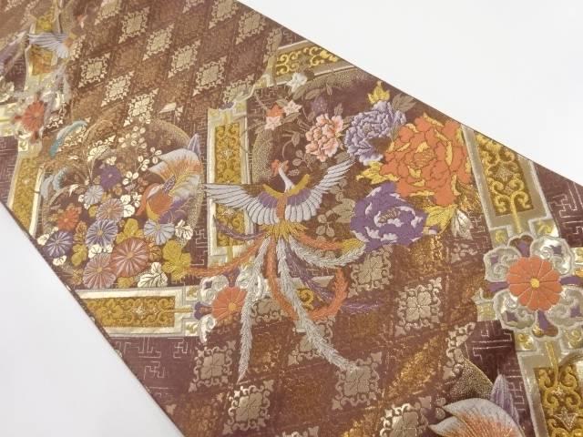 ☆最安値に挑戦 入荷予定 茶道具 着物 送料無料 リサイクル 本金花鳥模様織出し袋帯