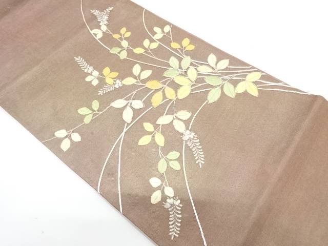 完璧 リサイクル  紗 萩模様刺繍袋帯【送料無料】[和服 和装 着物 きもの 帯 おしゃれ かわいい], Panasonic Store 37c8b0ea