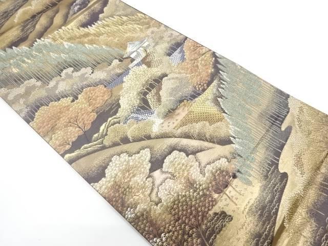 公式の  リサイクル 屋敷風景模様織出し袋帯【送料無料】[和服 和装 着物 きもの 帯 おしゃれ かわいい], カー用品家電通販の1BOX b7dca0d8