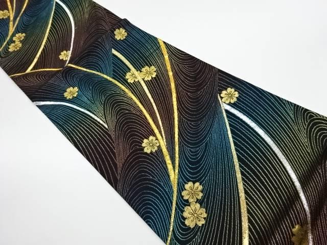 茶道具 着物 送料無料 リサイクル おすすめ特集 超安い 抽象に花模様織出し袋帯 和服 きもの かわいい おしゃれ 和装 帯