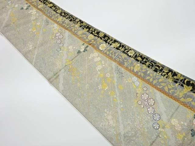 茶道具 着物 送料無料 リサイクル 唐花梅浪漫模様織出し袋帯 日本最大級の品揃え オンラインショッピング