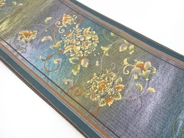 茶道具 定価の67%OFF 着物 限定タイムセール 送料無料 花唐草に向かい鳥模様織り出し袋帯 リサイクル