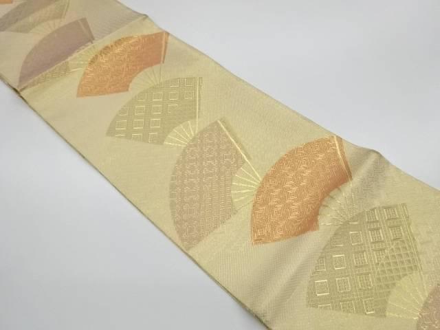 茶道具 中古 着物 送料無料 リサイクル 本場筑前博多佐賀錦扇模様織出し袋帯 日時指定