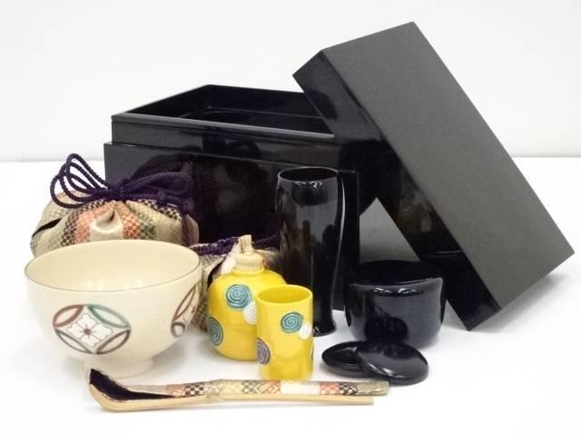 【茶道具・着物】送料無料 【茶道具】漆塗茶箱セット【送料無料】
