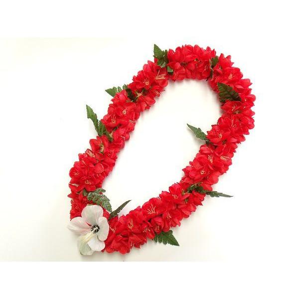フラの定番ブランド ALOHA HAWAII LEIのレイ 2020モデル フラダンス レイ シェルジンジャー 首飾り ブランド激安セール会場 L-25 赤 12680 ハワイアン