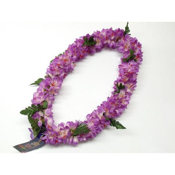 フラの定番ブランド ※アウトレット品 ALOHA HAWAII LEIのレイ フラダンス レイ 驚きの価格が実現 シェルジンジャー 紫 12680 首飾り ハワイアン L-25