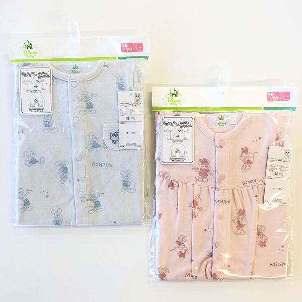 赤ちゃんの発育に合わせて2通りに着せられます Disney ファッション通販 ディズニー Purebasic新生児兼用ドレス 国内送料無料 お着換えらくらくドレス ミニー カバーオール 1点までゆうパケット可能 綿100% ミッキー
