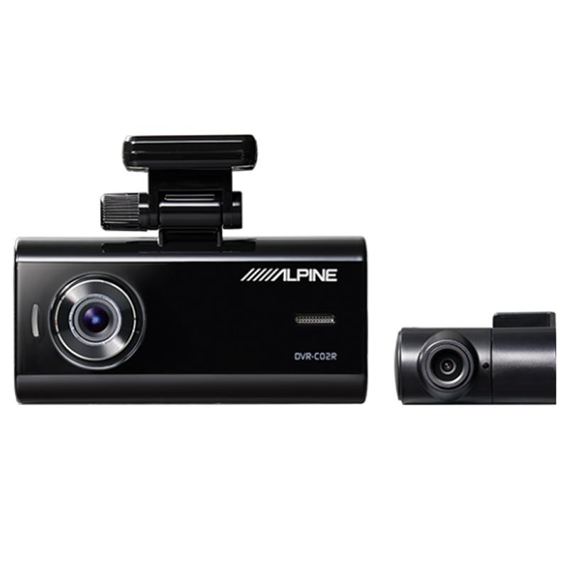 アルパイン ALPINE ドライブレコーダー ドラレコ 前後カメラ フロントカメラ バックカメラ 2カメラ 前方 後方 録画 駐車監視 おすすめ 新品 DVR-C02R