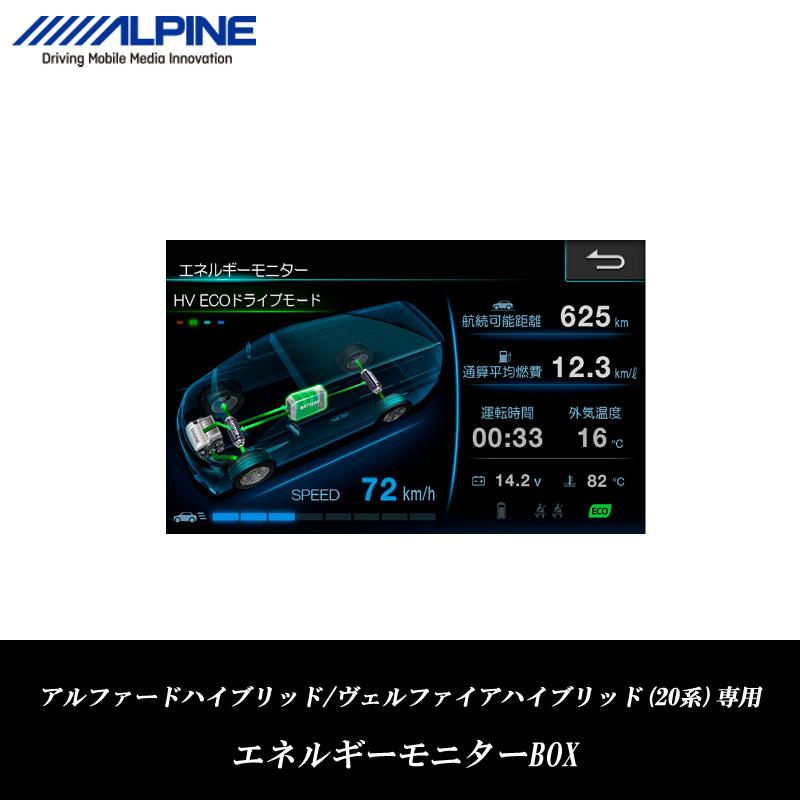 アルパイン ALPINE アルファード ハイブリッド ヴェルファイア ハイブリッド(20系)専用 エネルギーモニターBOX EDP-Z50-AVH