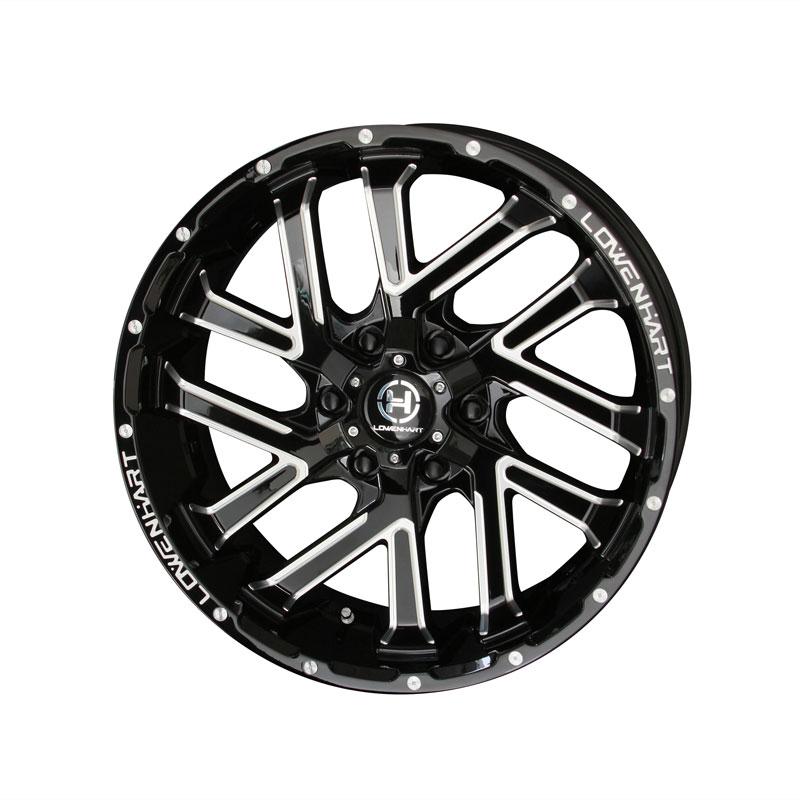 LOWEN HART レーベンハート GXL ジーエックスエル ホイール 4本セット 20インチ ブラック系 8.5J PCD139.7 6穴 スポーク SUV・4WD