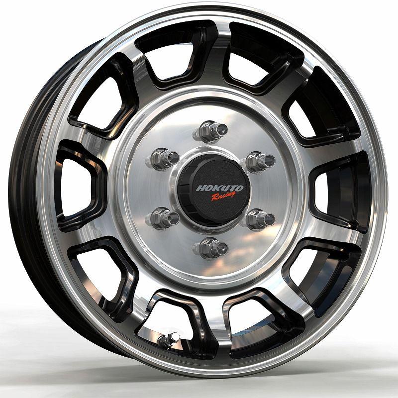 CRIMSON クリムソン Hokuto Racing ホクトレーシング 零式-S ホイール 4本セット 16インチ シルバー系 6.5J PCD139.7 6穴 デッシュ系 ワンボックス