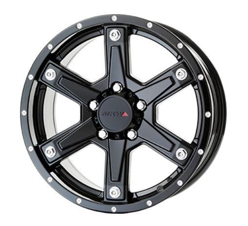 ブラック系 16インチ MKW 7.0J PCD114.3 エムケーダブリュー 4WD・SUV 単品1本 ホイール スポーク 5穴 MK-56