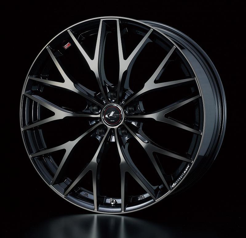 weds ウェッズ LEONIS レオニス MX エムエックス アルミホイール 4本セット 19インチ ブラック系 8.0J PCD114.3 5穴 メッシュ ミニバン・ワゴン・セダン