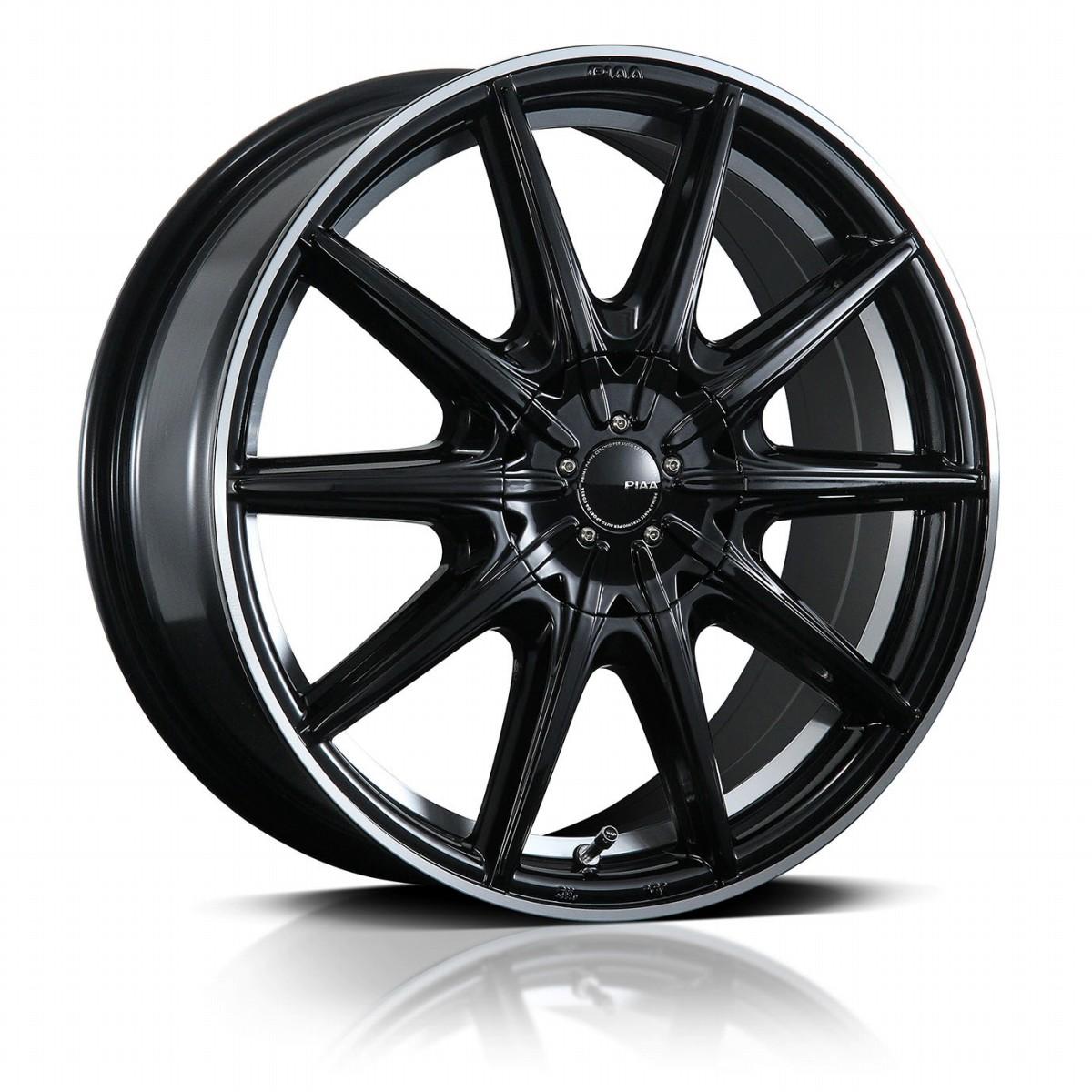 PIAA ピア EURO SPORT S10-R ユーロスポルト S10R ホイール 4本セット 18インチ ブラック系 7.0J PCD100&114.3 10穴 スポーク ミニバン・ワゴン・セダン・スポーツカー