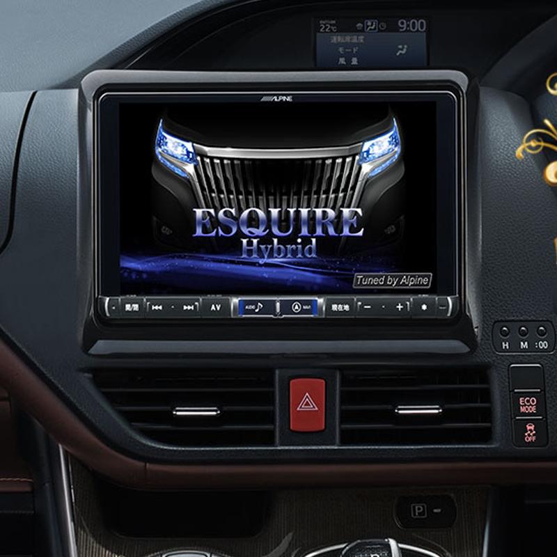 トヨタ・エスクァイア専用に開発した9型大画面カーナビ! アルパイン ALPINE カーナビ ビッグX BIGX トヨタ エスクァイア ESQUIRE 専用 9インチ 9型 WXGAカーナビ 新品 X9Z-EQ