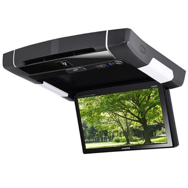 アルパイン ALPINE リアモニター フリップダウンモニター 後席モニター 9型 9インチ 車載モニター カーモニター 天井 DVD HDMI プラズマクラスター リアビジョン 新品 PXH9S-R-B