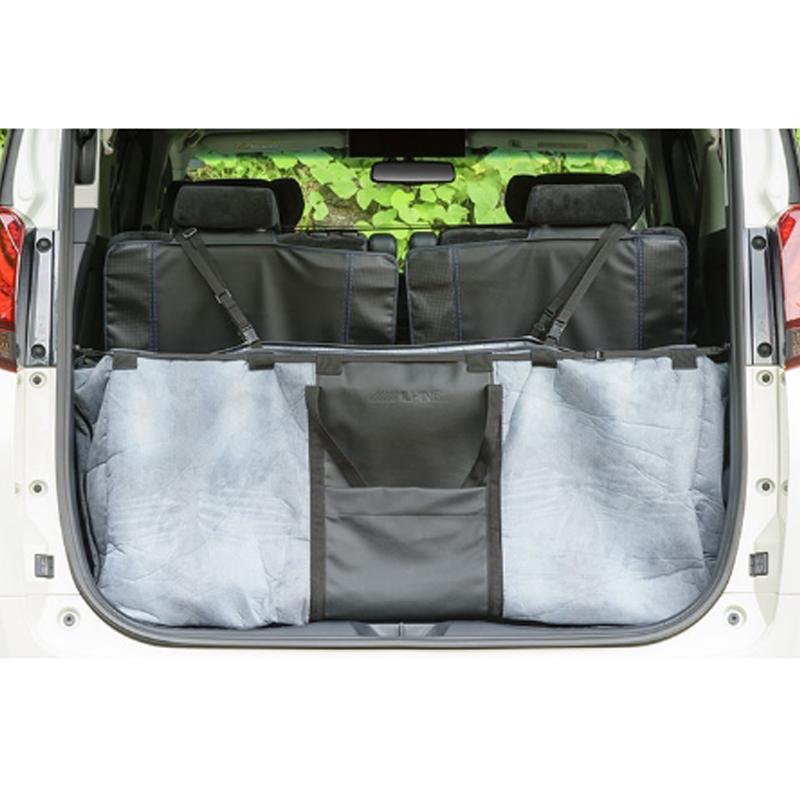 アルパイン ALPINE トランク収納ボックス 特大バッグ 車 アルファード ヴェルファイア 専用 大きい TOYケースバッグ (デニム柄)新車計画 SSK-TB01-2