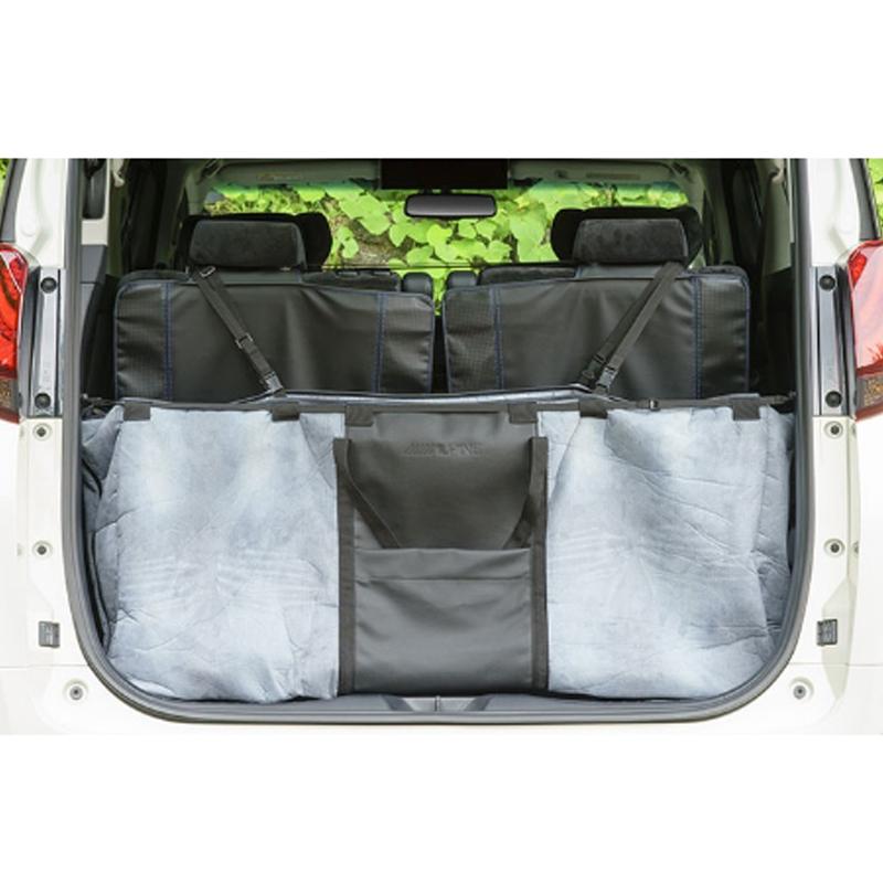 アルパイン ALPINE トランク収納ボックス 特大バッグ レジャーシート 車 アルファード ヴェルファイア 専用 大きい TOYケースバッグ (デニム柄 2way)新車計画 SSK-TB01-3