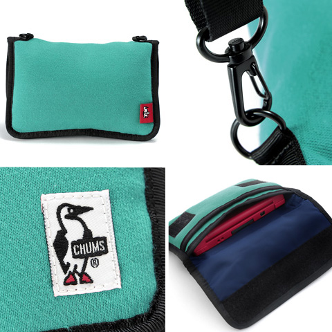 查姆CHUMS!游戏门[Game Pouch Sweat]CH60-0628(CH60-0255)人礼物女士小袋子[猫Point Of Sales不可]