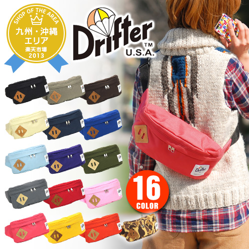 Drifter Drifter! Classic hip sack bag df0530 mens ladies body big West porch