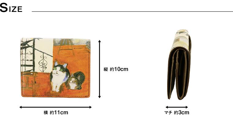b72940d94e68 財布 折財布 猫柄 レディース 【あす楽】 二つ折り財布 プレゼント 【トップ