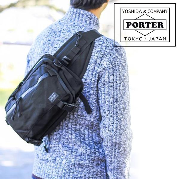 New YOSHIDA Bag PORTER KLUNKERZ WAIST BAG S Black 568-09706 From Japan