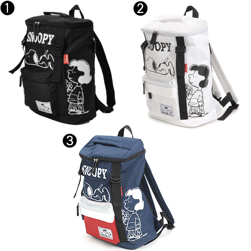 "Snoopy snoopyi! Square dei Pack rucksack doublebertoscuealucnnesobelisnoupe [DOUBLE BELT SQUARE RUCK] spb-640 mens ladies [store], ""not allowed"""