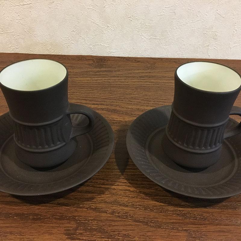 デンマーク ビンテージ食器/デンマーク ダンスク  DANSK コーヒーカップ&ソーサー 2客